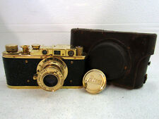 LEICA-II(D) LUFTWAFFE WWII VINTAGE RUSSIAN RF 35mm GOLD CAMERA EXCELLENT