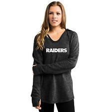 Oakland Raiders Womens Majestic Button Hook Hoody S