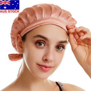 Women's 100% Mulberry Silk Sleep Hair Hat Care Satin Sleeping Bonnet Night Cap