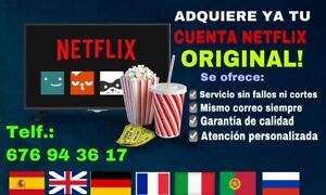 Plataforma Netflix (1 Año) 1 Usuario (LEER DESCRIPCIÓN)