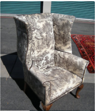 Large Antique Wing Chair
