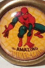 "Vintage Metal Ring , Adjustable. Comic  Superhero , Spider-Man. 60"""