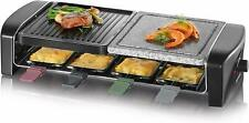 Severin Raclette Grill Table 1400Watt Nature Stone 8 People Cast Iron Plate