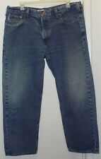 Carhartt Blue 100% Cotton Relaxed Fit Jeans-  Mens Size 42 X 30