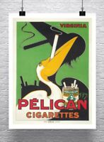 Pelican Cigarettes Vintage Tobacco Advertising Poster Canvas Giclee 24x30 in.