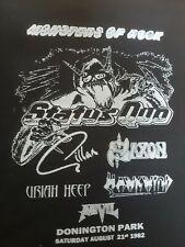 Monsters Of Rock 1982 Status Quo Retro look  Handmade T shirt