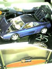 FERRARI F 348 1989 / 1:18 BURAGO édit. spéciale anniversaire 1999 bleu métal