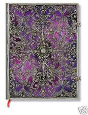 Paperblanks Lined Writing Journal Purple Silver Filigree Aubergine Ultra 7x9 New