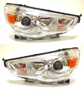 Mitsubishi ASX GA W 2010-2013 front head lamps lights for LHD one set LH + RH