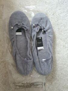 Next Grey Ballet Slippers