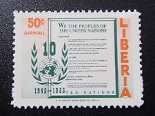 1955 Liberia United Nations 25 Cent Airmail Stamp Mint MNH - st106