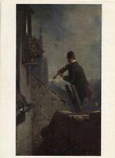 Alte Kunstpostkarte - Carl Spitzweg - Das Ständchen auf der Leiter