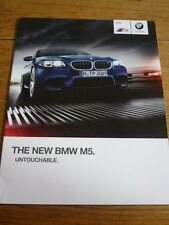 BMW M5 SALOON SALES BROCHURE LATE 2013 FOR 2014 MODEL YEAR