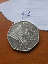 Lovely 50p Olympic Badminton Coin 2011 Circulated