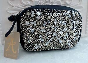 BN Accessorize Jewels & Diamantes 'Starlet' Mini X Body Bag, Black/Silver Tones