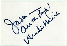 WENDIE MALICK SIGNED AUTOGRAPHED 4x6 INDEX CARD SIGNATURE PROOF Hot in Cleveland