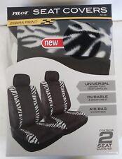 PILOT AUTOMOTIVE ZEBRA Seat Covers NEW Automotive 2 Covers UNIVERSAL FIT