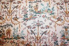 Tissu vintage neuf, coton, Chintz, toile de Jouy exotique H 45 cm x larg 280 (2)