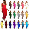 Women Racer Maxi Dress Ladies Jersey Long Vest Muscle Back Plus Size 8-26