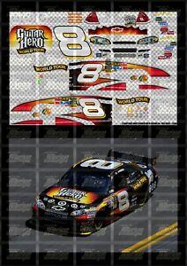 NASCAR 1/24 DECALS AA02 - ARIC ALMIROLA 2009 CUP #8 GUITAR HERO WORLD TOUR CHEVY