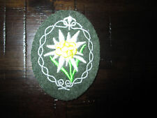 German WW2 Mountain troops gebergsjager  patch