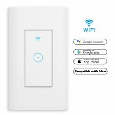 2x Smart Light Wall Wifi Switch Work w/ Alexa Google Home IFTTT Safety life App