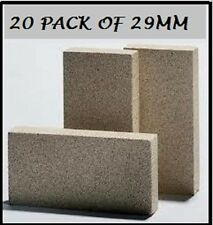 Vermiculite 20 pack fire insulator heat bricks pizza oven / fireplace 230x110x29