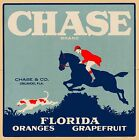 Orlando Florida Chase Brand Orange Oranges Citrus Fruit Crate Label Art Print