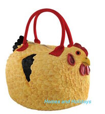 *FREE SHIP* RUBBER CHICKEN Handbag Tote Bag PURSE Rooster Hen Henbag Pocketbook
