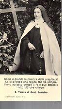 171 Santa Teresa di Gesù Bambino   Santino  Holycard