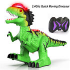 Remote Control T-Rex Dinosaur with Flame Spaying, Realistic Walking and Roaring