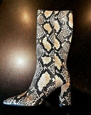 Gorgeous GUESS Snakeskin Leather Heeled Tall Boots UK 6 / US 8M / 39 - NEW