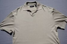 Jhane Barnes Silk Blend Textured Casual Polo Shirt. Gold, Men's Size M. EUC!!