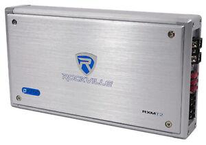 Rockville RXM-T2 Micro 2400w 2 Ch Marine/Boat Class D Amplifier 2x600W
