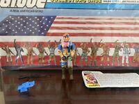 Vintage GI JOE ACTION FIGURE - 1986 Zandar 100% Complete - HASBRO With Card