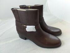 Bandolino Ladies Brown Ankle Books with Buckle Size 11M Leather Super Cute!!