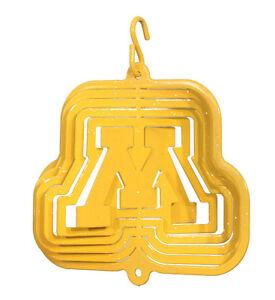 SWEN Products MINNESOTA GOPHERS GOLDY GOPHER Tini Swirly Christmas Tree Ornament