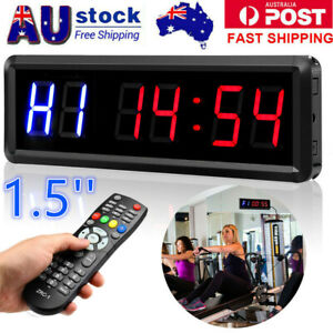 """1.5"""" 6 Digits GYM Crossfit Timer Workouts Timer Count Down/Up Clock with Remote"""