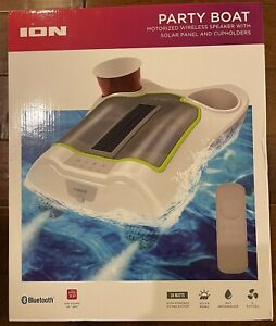 ION Party Boat Motorized Wireless Speaker Pool Speaker & Cupholders New