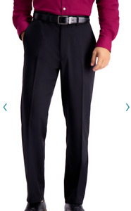 Haggar NEW H26 Black Premium Stretch Suit Pant TAILORED Fit Flex Waistband
