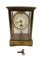 1880s Boston Clock Co. Boston, Massachusetts Brass Mantle Clock - Tandem Wind