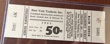 Ultra Rare 1951 Rookie MICKEY MANTLE 19 Yr Old - Yankees Spring Training Ticket