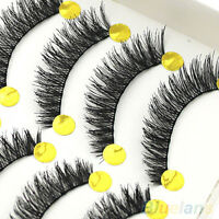 10 Pair Trendy Soft Cross False Eyelashes Great Makeup Long Eye Lashes Extension