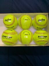 Rawlings Official League Softball 11'' 6(six) Balls Yellow Fastpitch Slowpitch