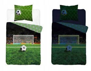 100% Cotton Duvet Cover Pillowcase Set Single Football Glow in the dark Bedding