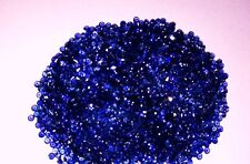 NATURAL ROYAL BLUE SAPPHIRE HEATED! GRADE AAA! 1MM ROUND DIAMOND CUT - 50PCS LOT