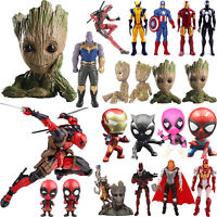 The Avengers Marvel Groot Iron-Man Deadpool Action Figures Figurine Collect Toys