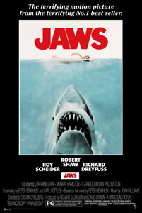 Jaws Movie Poster 24-Inch by 36-Inch