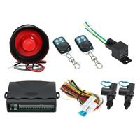 NEW CAR ALARM + 2 DOOR REMOTE CENTRAL LOCKING KIT WITH SHOCK H4B6