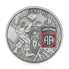U.S. United States 82nd Airborne Division All American Silver Plated Coin